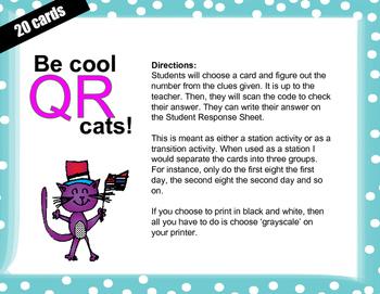 QR codes 1 more, 1 less to 20 - Kindergarten Tek 2f
