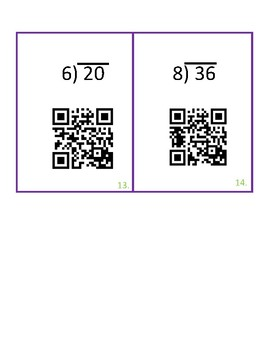 QR codes Division with Remainders