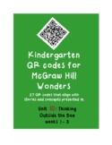 QR codes for McGraw Hill Wonders K: Unit 10: Problem Solvers weeks 1-3