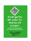 QR codes for McGraw Hill Wonders K: Unit 4: Around the Nei