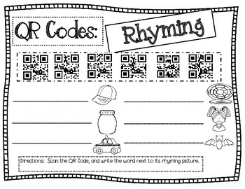 QR codes for Rhyming