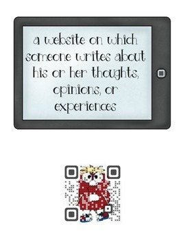 QR codes for computer technology vocabulary