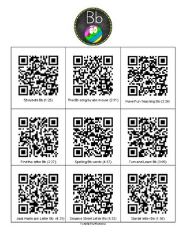 QR codes for the letters of the alphabet