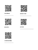 QR codes with text structures