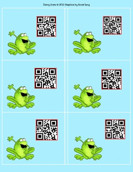 QRCodes Frogs - Student Numbers