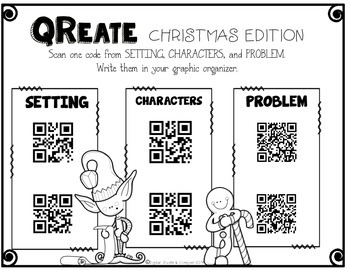 QReate A Story: Christmas Edition!  QR Codes and Creative Writing.  FREE SAMPLE
