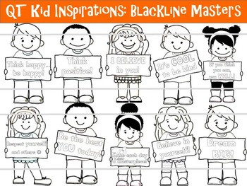 QT Kid Inspirations! - BLACKLINE MASTERS - Personal and Commercial use