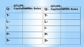QTLIPS: Capitalization Rule