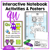 QU Interactive Notebook Activities and Posters **FREEBIE**