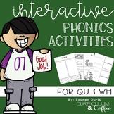 QU & WH Interactive Phonics Activities