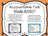 QUACK back Accountable Talk Posters