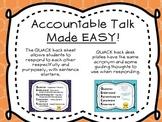 QUACK back Accountable Talk Posters
