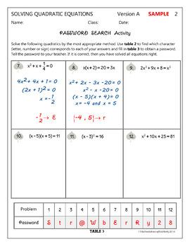 QUADRATIC EQUATIONS (All Methods) -