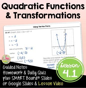 Algebra 2: Quadratic Functions and Transformations