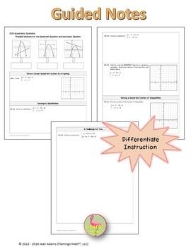 Algebra 2: Quadratic Systems