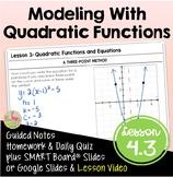 Modeling with Quadratic Functions (Algebra 2 - Unit 4)