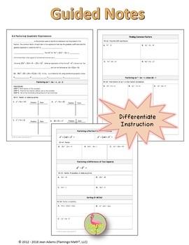 Algebra 2: Factoring Quadratic Expressions