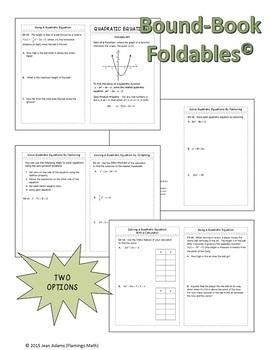 Quadratic Equations (Algebra 2 - Unit 4)