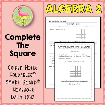 Algebra 2: Completing The Square