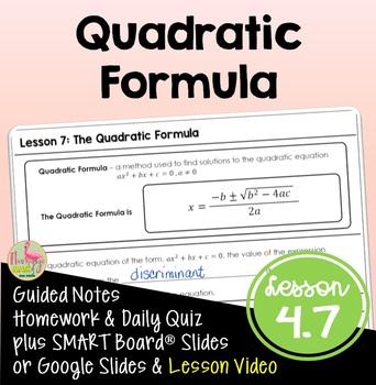 Algebra 2: The Quadratic Formula