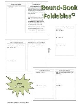 Algebra 2: Equations and Complex Solutions