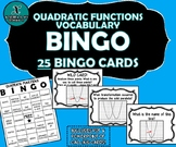 QUADRATIC FUNCTIONS BINGO - Quadratics Vocabulary Activity