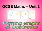 QUADRATIC GRAPHS AND SOLVING EQUATIONS
