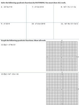 QUADRATIC UNIT TEST