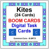 "QUADRILATERALS - ANGLES IN KITES: ""DIGITAL"" BOOM CARDS (32 TASK CARDS)"