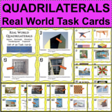 QUADRILATERALS Task Cards Stations Real World Applications