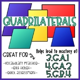 QUADRILATERALS- Vocabulary & Shape Recognition