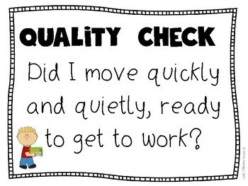 QUALITY CHECK Self Assessment Classroom Posters