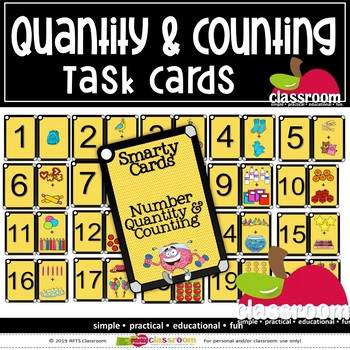 QUANTITIES, NUMBERS AND COUNTING- SMARTY TASK CARDS