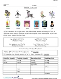 QUANTITY AGREEMENT, REGULAR ADJECTIVES (FRENCH)