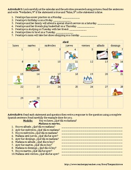 QUE DIA ES HOY? - DAYS OF THE WEEK IN SPANISH