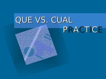 QUE VS. CUAL IN SPANISH.