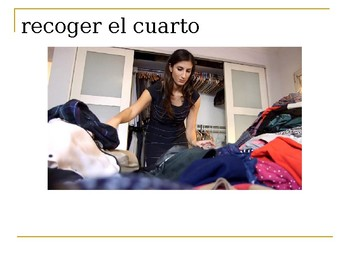 QUEHACERES:  THIS POWERPOINT TEACHES CHORES IN SPANISH