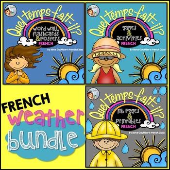 FRENCH WEATHER BUNDLE - QUEL TEMPS FAIT-IL?