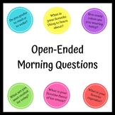 QUESTION CARDS - Open Ended Question Cards for Morning, En