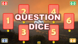 QUESTION DICE - A PowerPoint template. Throw the dice to turn a question card.