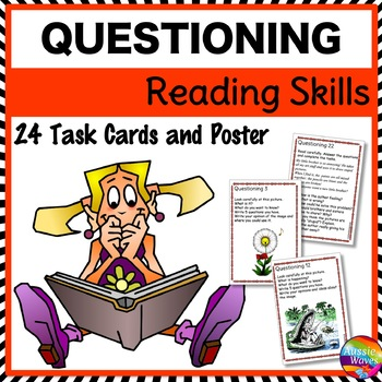 READING Task Cards to Improve COMPREHENSION with QUESTIONING SKILLS