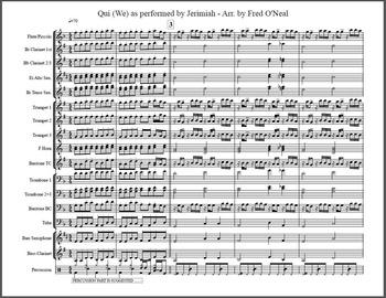 QUI by JERIMIAH Marching Band Arrangement