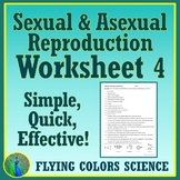 Asexual & Sexual Reproduction Quick Worksheet NGSS MS-LS3-2