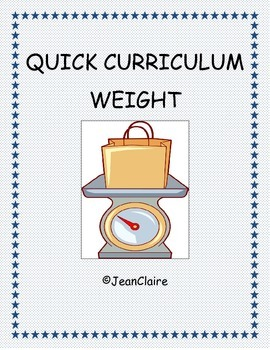 QUICK CURRICULUM: CUSTOMARY & METRIC WEIGHT MEASUREMENT