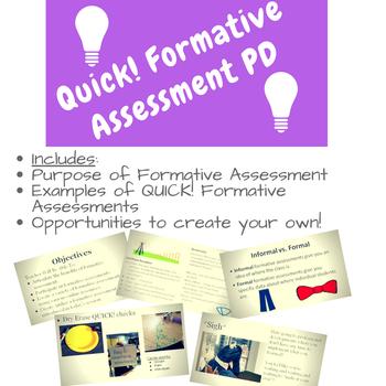 QUICK! Formative Assessment--Professional Development