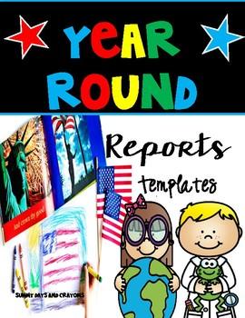 Reports/ Writing Templates / Social Studies/ Science/ Language Arts