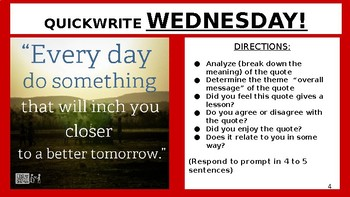 QUICK-WRITES PART 1