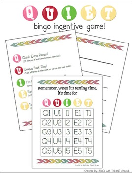 """QUIET"" Bingo Incentive Whole Class Group Reward System!"