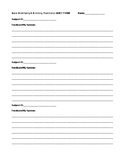 QUIET Worksheet  for Extra Middle School Student Focus Work