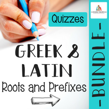 QUIZ BUNDLE Parts 1-4: Greek & Latin Root Words and Prefixes
